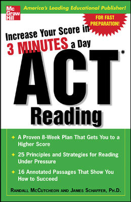 Increase Your Score In 3 Minutes A Day Act Reading By McCutcheon, Randall/ Schaffer, James